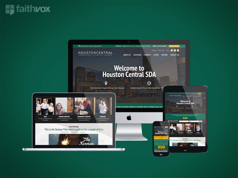 Houston Central SDA New Website